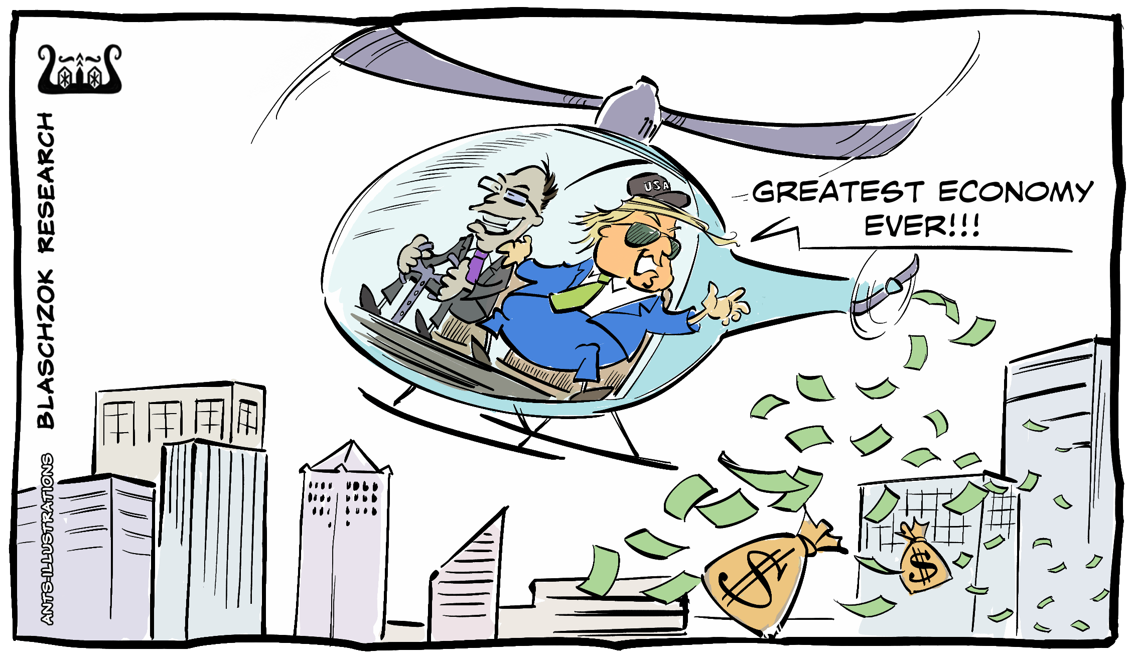 Cartoon: Helicopter Money