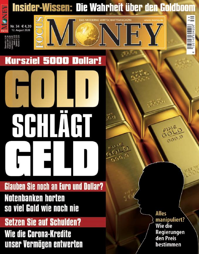 Focus Money: Gold schlägt Geld