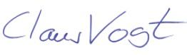 Unterschrift Claus Vogt
